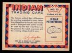 1959 Fleer Indian #73   Eskimo wrestling Back Thumbnail