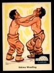 1959 Fleer Indian #73   Eskimo wrestling Front Thumbnail