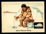 1959 Fleer Indian #77  Eskimo woman fishing  Front Thumbnail