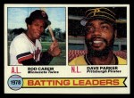1979 Topps #1  Batting Leaders    -  Rod Carew / Dave Parker Front Thumbnail