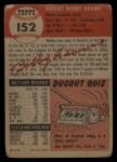 1953 Topps #152   Bobby Adams Back Thumbnail