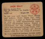 1950 Bowman #124  Jack Zilly  Back Thumbnail