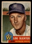 1953 Topps #224   Lou Sleater Front Thumbnail