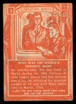 1957 Topps Isolation Booth #3  World's Thinnest Man  Back Thumbnail