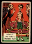 1957 Topps Isolation Booth #3  World's Thinnest Man  Front Thumbnail