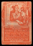 1957 Topps Isolation Booth #13  Biggest Robbery in History  Back Thumbnail