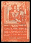 1957 Topps Isolation Booth #70  World's Smallest Prison  Back Thumbnail