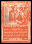 1957 Topps Isolation Booth #4  World's Oldest Man  Back Thumbnail