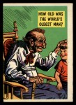 1957 Topps Isolation Booth #4  World's Oldest Man  Front Thumbnail