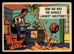 1957 Topps Isolation Booth #78   World's Largest Hailstone Front Thumbnail