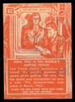 1957 Topps Isolation Booth #82   World's Fastest Train Back Thumbnail