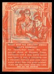 1957 Topps Isolation Booth #77  Greatest Single Day's Rainfall  Back Thumbnail