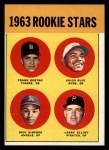 1963 Topps #407  Rookies    -  Frank Kostro / Chico Ruiz / Larry Elliot / Dick Simpson Front Thumbnail