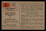 1954 Bowman #41  Doak Walker  Back Thumbnail