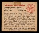 1950 Bowman #131  Ventan Yablonski  Back Thumbnail