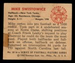 1950 Bowman #50   Mike Swistowicz Back Thumbnail