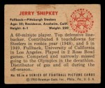 1950 Bowman #90   Jerry Shipkey Back Thumbnail