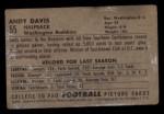 1952 Bowman Small #55  Andy Davis  Back Thumbnail
