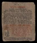1949 Bowman PCL #3   Ralph Hodgin Back Thumbnail