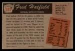 1955 Bowman #187  Fred Hatfield  Back Thumbnail
