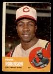 1963 Topps #400  Frank Robinson  Front Thumbnail