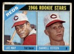 1966 Topps #424  Reds Rookies  -  Lee May / Darrell Osteen Front Thumbnail