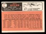 1966 Topps #81   Ray Oyler Back Thumbnail