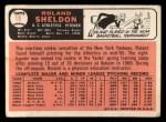 1966 Topps #18   Roland Sheldon Back Thumbnail