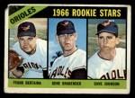 1966 Topps #579  Orioles Rookies  -  Frank Bertaina / Gene Brabender / Davey Johnson Front Thumbnail