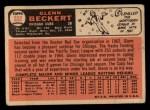 1966 Topps #232  Glenn Beckert  Back Thumbnail