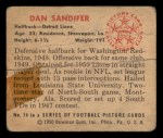 1950 Bowman #74  Dan Sandifer  Back Thumbnail