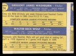 1970 Topps #74  Angels Rookie Stars  -  Greg Washburn / Wally Wolf Back Thumbnail