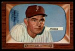 1955 Bowman #294   Wally Moses Front Thumbnail