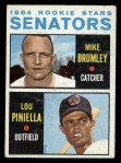 1964 Topps #167   Senators Rookie Stars  -  Lou Piniella / Mike Brumley Front Thumbnail