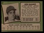 1971 Topps #597   Ken Suarez Back Thumbnail