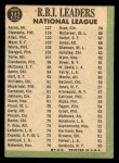 1967 Topps #242  NL RBI Leaders  -  Hank Aaron / Rich Allen / Roberto Bob Clemente Back Thumbnail