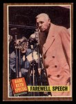 1962 Topps #144 A Farewell Speech  -  Babe Ruth Front Thumbnail