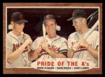 1962 Topps #127 A Pride of the A's  -  Norm Siebern / Hank Bauer / Jerry Lumpe Front Thumbnail