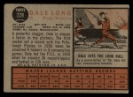 1962 Topps #228  Dale Long  Back Thumbnail