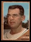 1962 Topps #33   Don Larsen Front Thumbnail