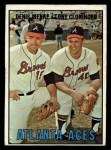 1967 Topps #396  Atlanta Aces  -  Denis Menke / Tony Cloninger Front Thumbnail