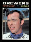 1971 Topps #97   Floyd Wicker Front Thumbnail