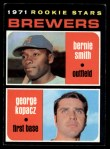 1971 Topps #204  Brewers Rookies  -  George Kopacz / Bernie Smith Front Thumbnail