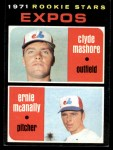 1971 Topps #376  Expos Rookies  -  Clyde Mashore / Ernie McNally Front Thumbnail