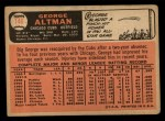 1966 Topps #146   George Altman Back Thumbnail