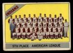 1966 Topps #303 ERR Indians Team  Front Thumbnail