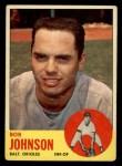1963 Topps #504  Bob Johnson  Front Thumbnail