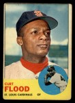 1963 Topps #505   Curt Flood Front Thumbnail
