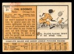 1963 Topps #31  Cal Koonce  Back Thumbnail