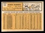 1963 Topps #125  Robin Roberts  Back Thumbnail
